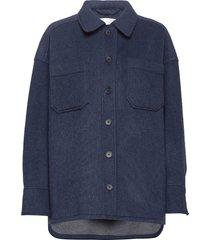 sealiner wool overshirts blauw fall winter spring summer