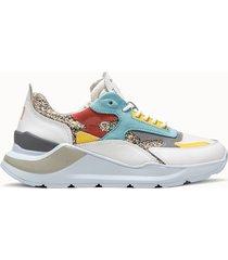 d.a.t.e. sneakers fuga glitter platinum multicolore