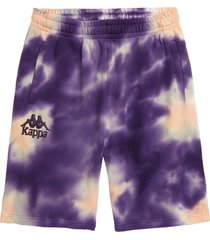 boy's kappa authentic tie dye french terry shorts, size 6y - ivory