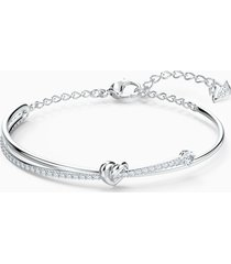 bracciale rigido lifelong heart, bianco, placcato rodio
