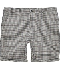 river island mens big and tall grey check skinny shorts