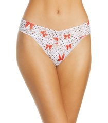 women's hanky panky dotty bows original rise thong