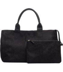 natori textured satchel bag, women's, cotton natori
