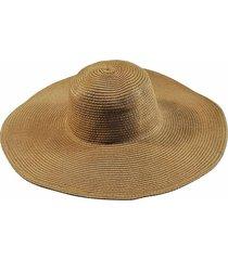 chapéu chapelaria vintage floppy praia caramelo