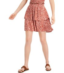 ultra flirt juniors' tiered floral-print mini skirt