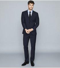 reiss frontier - stretch satin cotton slim fit shirt in soft blue, mens, size xxl
