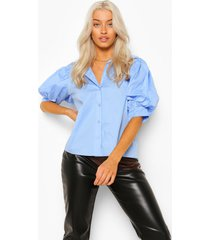 blouse met volle mouwen, powder blue