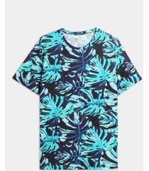 camiseta maxi hojas pintadas