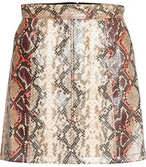 bonnie pu skirt kort kjol multi/mönstrad french connection