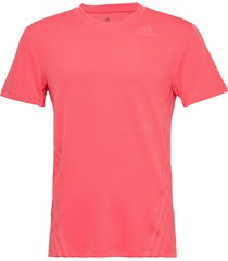 aero 3s tee t-shirts short-sleeved rosa adidas performance