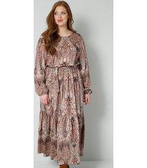 jurk sara lindholm bruin::smaragdgroen