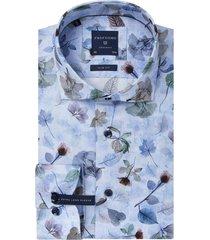 mouwlengte 7 overhemd profuomo blauw bloemen