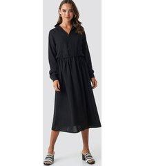 na-kd trend high neck zip front ankle dress - black