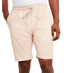 tallia men's cross hatch stretch drawstring shorts