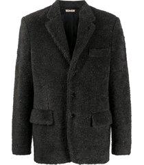 marni shearling soft touch blazer - grey