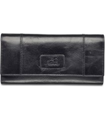 mancini casablanca collection rfid secure ladies trifold wing wallet