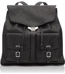 rag & bone designer handbags, black leather field backpack