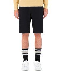 champion men's drawstring cotton-blend fleece shorts - black - size s