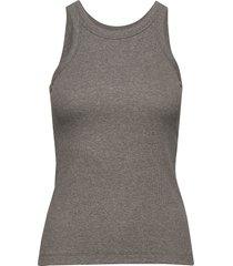 espera rib tank t-shirts & tops sleeveless grijs totême