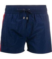 balmain side-panel swim shorts - blue