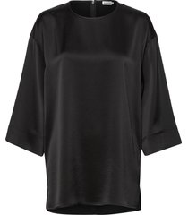 lydia top t-shirts & tops long-sleeved zwart filippa k