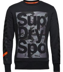 combat boxer crew sweat-shirt tröja svart superdry