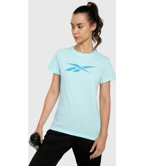 camiseta azul reebok essentials vector graohic tee