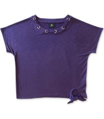 jm collection grommet tie-hem top, created for macy's