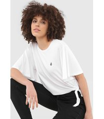 camiseta volcom coco ho branca - branco - feminino - dafiti