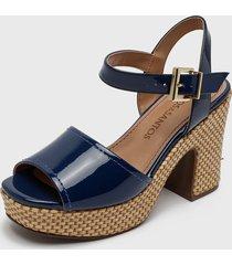 sandalia azul loucos & santos