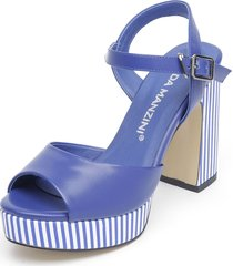 sandalia azul eda manzini
