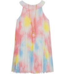 rare editions little girls pleated tie-dye dress