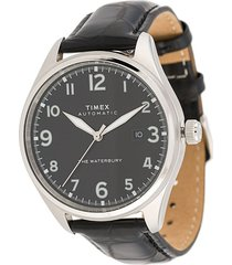 timex waterbury traditional automatic 42mm watch - black