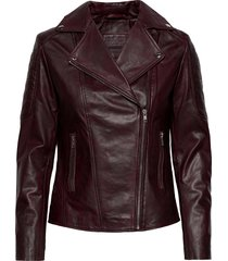 biker jacket läderjacka skinnjacka röd depeche