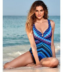marrakech escape criss cross firm control one-piece swimsuit