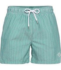 cf seersucker swim shorts badshorts grön gant