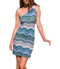 korte jurk admas asymmetrische zomerjurk etnico blauw