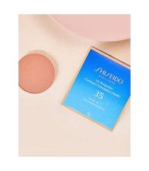 amaro feminino shiseido protetor solar facial compacto fps35 refil uv protective compact foundation - 12g, medium ivory