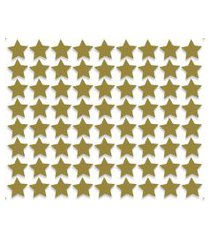 adesivo de parede estrelas douradas 54un