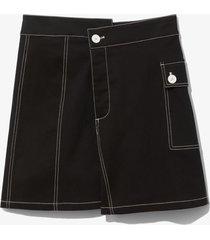 proenza schouler white label asymmetric utility skirt black 10