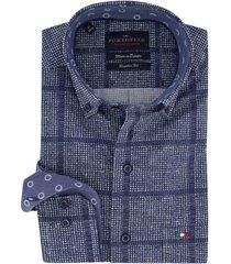 overhemd portofino blauwe ruit