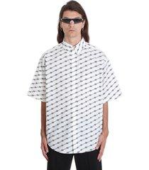 balenciaga shirt in white cotton