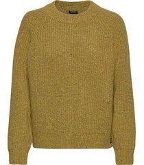 freya tweed crew stickad tröja brun superdry