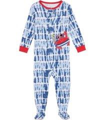 baby boys tie dye crab footie pajamas