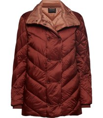 quilted longer length jacket with asymmetric quilting fodrad jacka brun scotch & soda