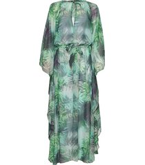 kaftan maxi dress galajurk groen ilse jacobsen