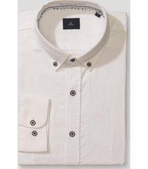camisa casual liso blanco trial