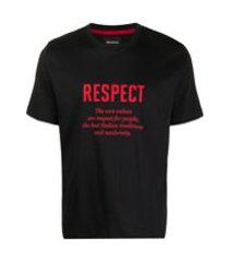 kiton camiseta com estampa de slogan - preto