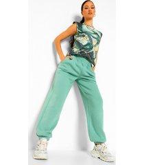tall marmerprint t-shirt met schouderpads, green