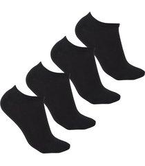 medias tipo baleta negras invisibles diseños uou socks pack x 4 und envio gratuito
